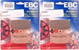EBC Sintered Double H Front Brake Pads (2 Sets) for both Calipers 2009-2013 Kawasaki VN1700 Vulcan 1700 Voyager FA158HH