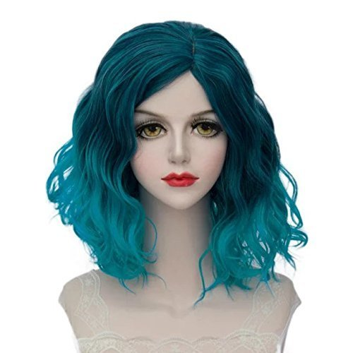 Wig Cap Construction (TOPMAX Lolita Multi-Color Short Wavy Halloween Cosplay Wigs and Cap)