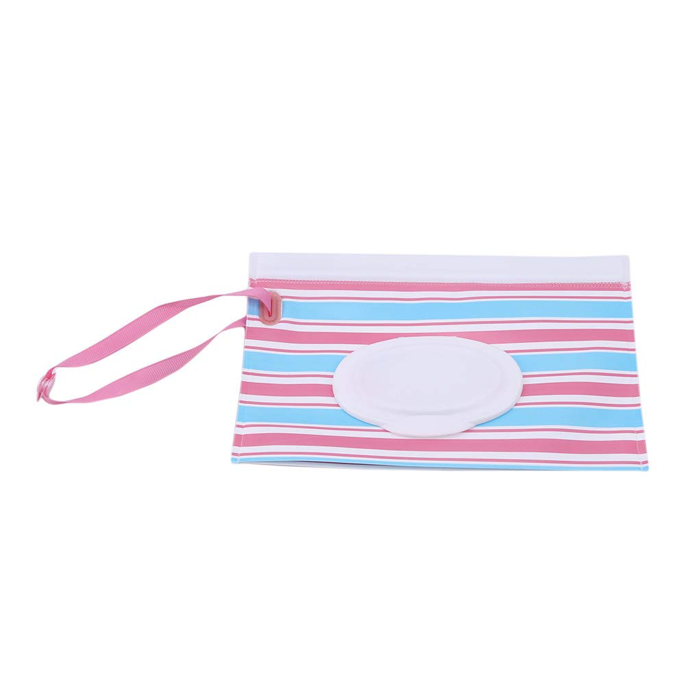 Meoliny Portable Wet Wipe Pouch Dispenser Reusable Baby Diaper Wipe Holder Refillable Personal Travel Clutch Dispenser Holder