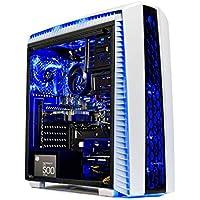 SkyTech Beast Gaming Computer Desktop PC - Ryzen 2 2700X 3.7GHz (4.3Ghz Turbo) 8-Core, GTX 1080 8GB, 8GB DDR4 2400, 240GB SSD, 1TB HDD, VR Ready, Wi-Fi USB, Windows 10 Home 64-bit