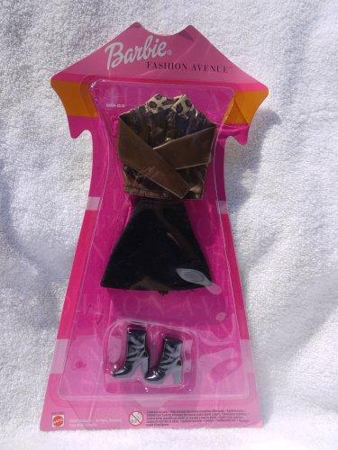 Barbie Fancy Dress Costumes For Adults (Barbie Golden Vinyl Jacket with Leopard Collar, Black Skirt (Europe 2001))