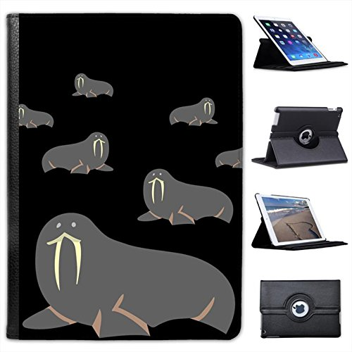 huge-tusks-on-large-arctic-grey-walrus-for-apple-ipad-air-2-2014-version-faux-leather-folio-presente