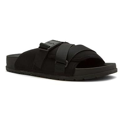People Footwear The Lennon Chiller Men Open Toe Canvas Black Slides Sandal  Black Size  11 e67bf58c943