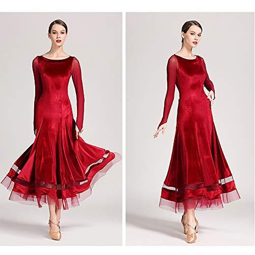 Rumba Robe Flanelle xxl Latin Tango Pompon Printemps Noir Été Xxl Cha Danse Ballroom Salsa Costume Taille red Rouge L Xl Femmes Dentelle Yb6vfgy7