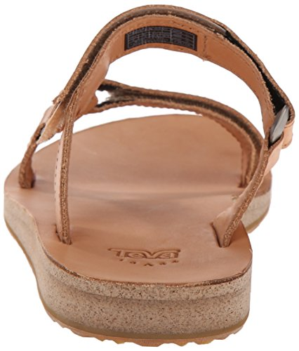 Sandals White Brun Leather Original Woman Teva Universal Slide Marron n71Yxw