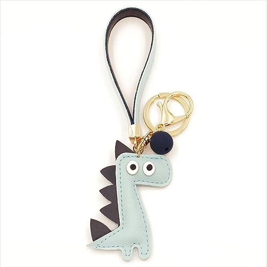 ink2055 Cute Dinosaur Keychain Car Mobile Phone Hanging Pendant Ornaments  Key Rings - Random Color