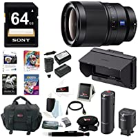 Sony 35mm f/1.4 ZA Lens, CLMFHD5 Portable Monitor, ECMW1M Wireless Mic Bundle