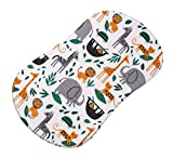 SheetWorld Fitted Bassinet Sheet Fits Halo Bassinet Swivel Sleeper - Modern Jungle Animals - Made in USA