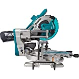 "Makita XSL04ZU 18V x2 LXT Lithium-Ion (36V) Brushless Cordless 10"" Dual-Bevel Sliding Compound Miter Saw with Aws & Laser, TOOL Only"