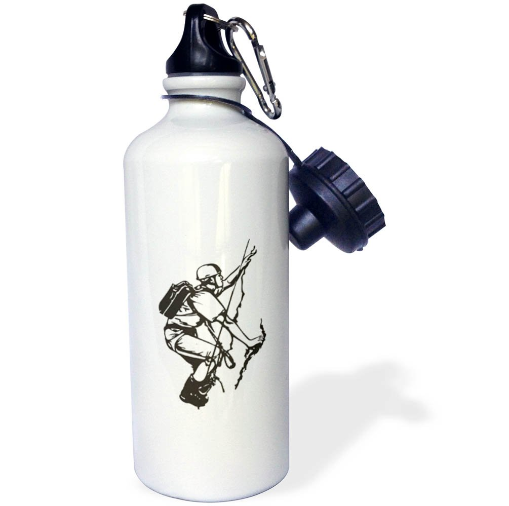 3dRose Sven Herkenrath Sport - Climbing Rock Mountain Climb Sport Extreme Risk - 21 oz Sports Water Bottle (wb_280317_1) by 3dRose