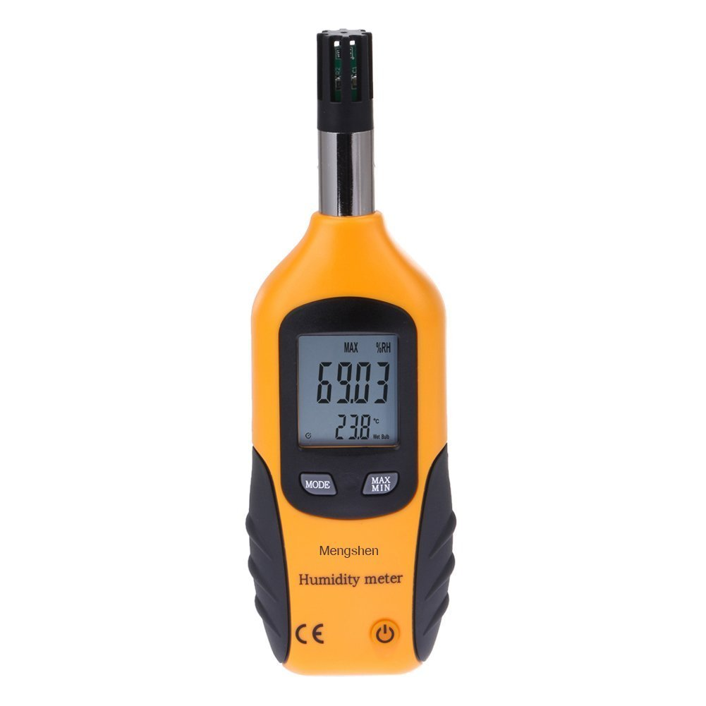 Mengshen Digital Temperature and Humidity Meter - with Dew Point and Wet Bulb Temperature - Battery Included, M86 by Mengshen