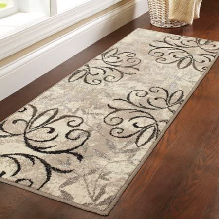 Amazon Com Better Homes Gardens Iron Fleur Area Rug Runner Beige