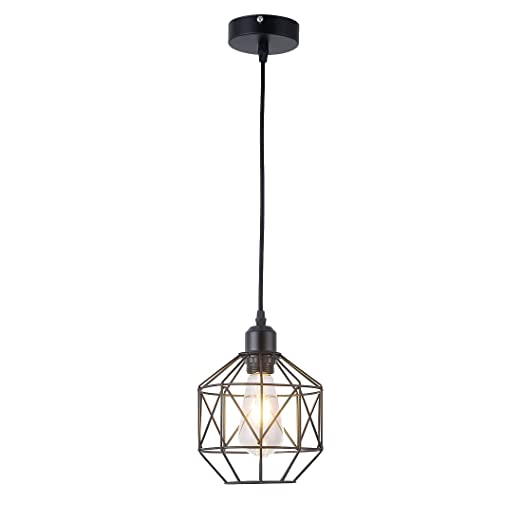 Amazon.com: Lámpara de techo, estilo retro, diseño vintage ...