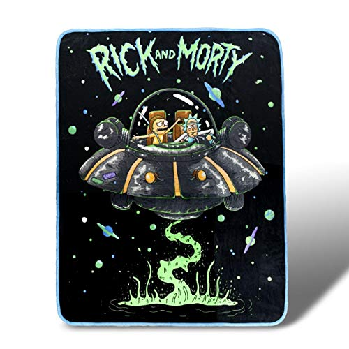 "RICK AND MORTY 46""x 60"" Fleece Throw Blanket - Novelty Home Accessories - Collectible Unique Gift for Birthdays, Holidays, House Warming Parties (Blanket Series Throw Fleece)"