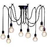 Ceiling Spider Lamp Light Pendant Lighting, Antique Classic Adjustable DIY Lighting Chandelier Modern Chic Industrial Dining