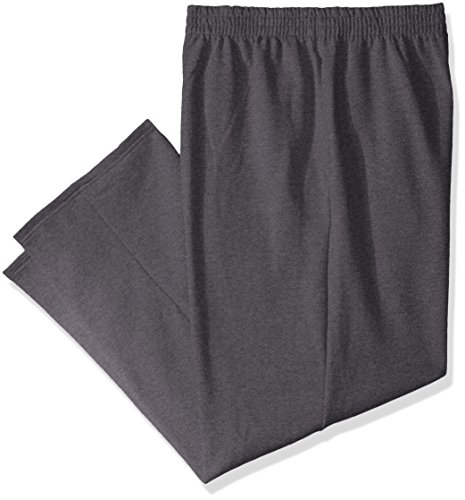 Fruit of the Loom Men's Pocketed Open-Bottom Sweatpants (2 Pack), Charcoal Heather, XX-Large -