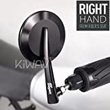 bar end mirror round 65 black right hand x 1 for motorcycle cafe racer bobber KiWAV