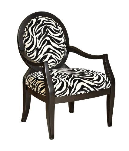 Zebra Oval Back Accent Chair -- Powell 502-936