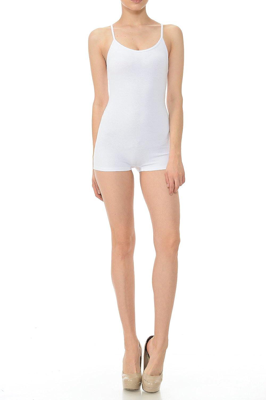 7Wins Jjj Women Catsuit Cotton Lycra Tank Spaghetti Strapped Short Yoga Bodysuit Jumpsuit S-Plus