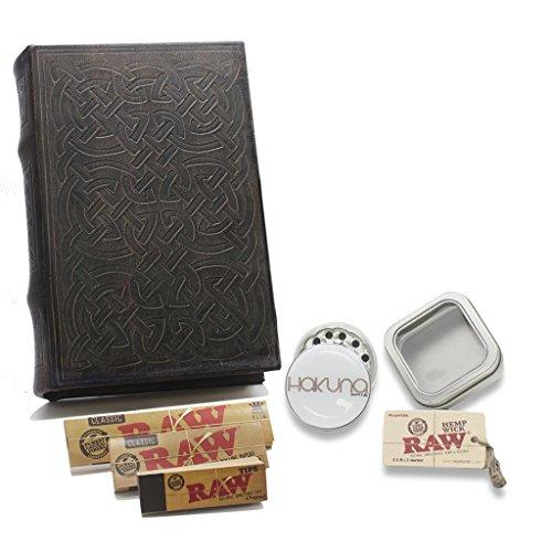Celtic-Book-Stash-Box-Raw-Accessories-Bundle-Smoke-Accessories-Bundle