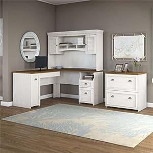 Amazon Com Bush Furniture Fairview L Shape Wood Computer