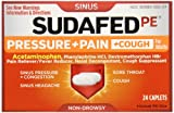 Sudafed PE Pressure + Pain + Cough, 24 Count (Pack of 72)