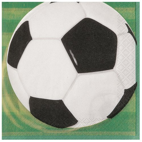 Soccer Party Beverage Napkins, 16ct