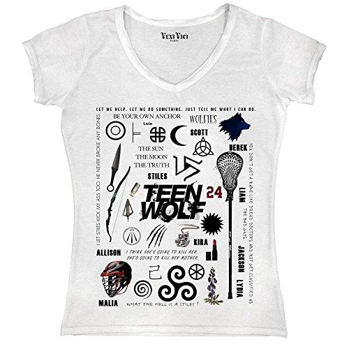 Para Camiseta Vici Blanco Mujer Veni 54wXqEWB