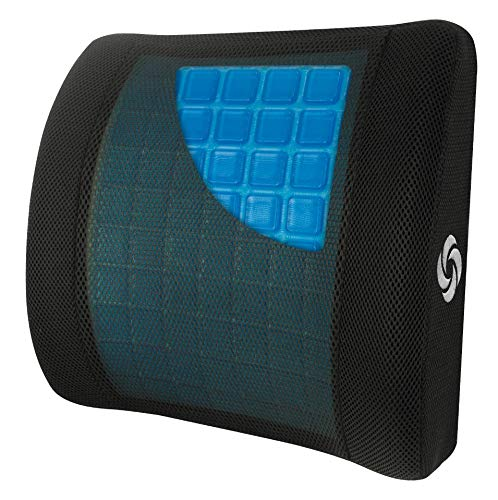 Samsonite SA6086 - Lumbar Support Pillow with Mild Cooling Gel [Cooling effect is subjective, and varies by personal sensitivity] - Helps Relieve Lower Back Pain - Premium Memory Foam by Samsonite (Image #1)