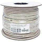 iggual Bobina Cable RJ45 CAT6 UTP Rigido 100Mts - Cable de Red (100 m, Cat6, U/UTP (UTP), Gris)