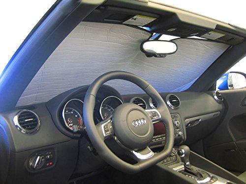 The Original Windshield Sun Shade, Custom-Fit for Audi TT Quattro Convertible 2007-2015, Silver Series