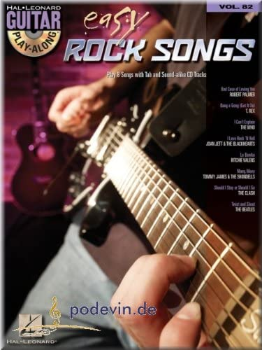 Easy Rock Songs – Guitar Play Along – Guitarra oten Partituras ...