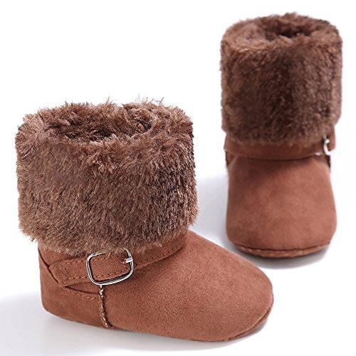 fille Estamico Chaussures Souples Marron Bébé Pour awIzqrnw