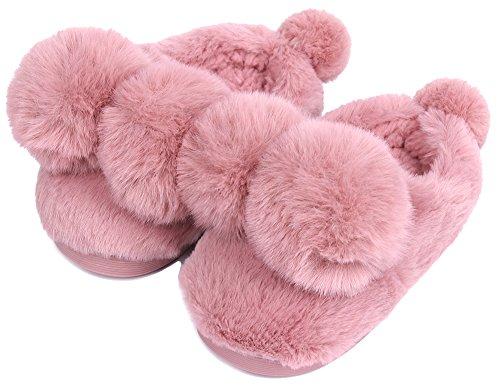 UIESUN Unisex Toddler Shoes Slippers Funny Ball Boy Girl Winter Soft Bedroom Indoor House Purple-16/17