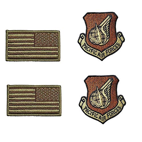 US Air Force Pacific Air Forces OCP Spice Brown Patch and Flag Bundle