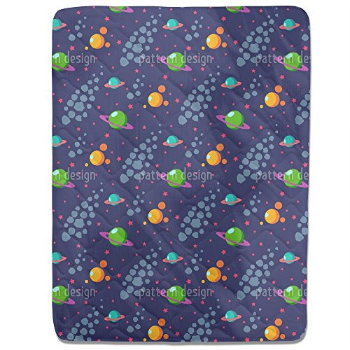 Solar System Fitted Sheet: King Luxury Microfiber, Soft, Breathable by uneekee