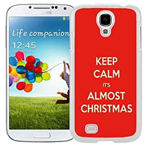 Unique and Fashionable Cell Phone Case Design with Keep Calm It's Almost Christmas Galaxy S4 Wallpaper in White