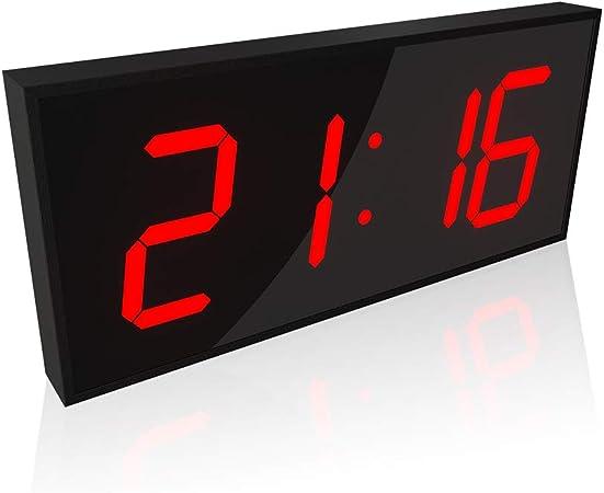 DZWYM Reloj Pared Digital Grande, Reloj Pared Mudo LED 3D, Reloj Despertador, Cuenta Regresiva Reloj Pared con Control Remoto Pantalla Doble Cara, 290 Cristales LED, 50 Metros Ultra Claros,Rojo: Amazon.es: Hogar