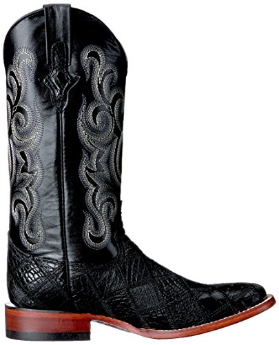 Ferrini Mens Patchwork Gtr / Ost St-toe Western Boot Nero