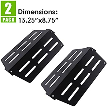 X Home 7622 65505-2pk Heat Deflectors for Weber Genesis 300 Series Grills with Front-Control, Genesis E&S 310 320 330 Grill Parts, Porcelain Steel Replacement for Weber Genesis Heat Deflector