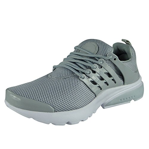 Loud Look Womens Ladies Running Trainers Lace Up Flat Comfy Fitness Gym Sports Shoes Size 3-8 Grey dFboolWb