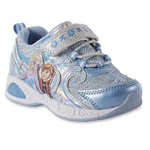 ACI Toddler Girls' Frozen Light-Up Blue Sneakers (11 US Girls Little Kid)