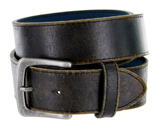 Men's Vintage Distressed Leather Casual Belt 1-1/2