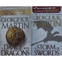 Author George R. R. Martin Two Book Bundle Collection Set Includes: A STORM OF SWORDS AND A DANCE WITH DRAGONS