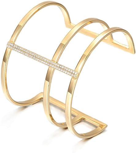 Zirconia Women Bracelets Cuff Bracelet Jewelry Full Rhinestone Open Bangle