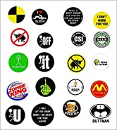 TWENTY (20) BEST SELLER FUNNY CRAZY PACK Osha Trained Hard Hat Stickers USA Union | Welding Helmet Decals | Funny Labels Badges Toolbox Laborer Construction Trucker Cowboy