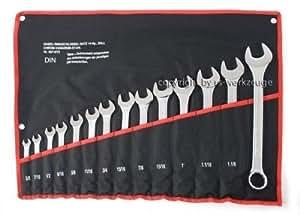 Llaves fijas 16 piezas Herramientas en pulgadas desde 1/4' hasta 1.1/4'