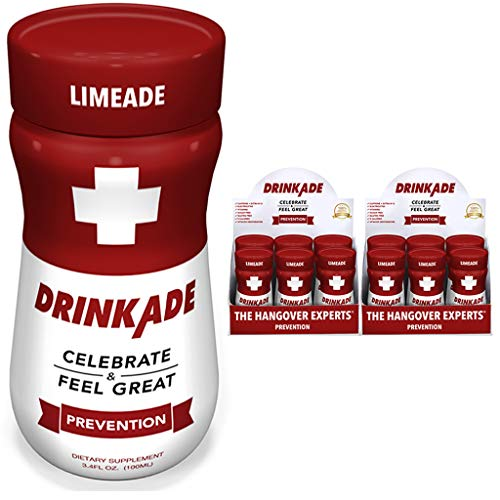 DrinkAde Prevention Hydration & Liver Detox | Electrolytes, Vitamin B, Milk Thistle, Green Tea Extract | Only 5 Calories | Vegan, Caffeine-Free, Non-GMO | Previously Never Too Hungover | 12 Pack