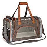 Mr. Peanut's Airline Approved Soft Sided Pet Carrier by, Low Profile Travel Tote with Fleece Bedding, Premium Zippers & Metal Safety Clasp, Under Seat Compatibility, Perfect for Cats and Small Dogs