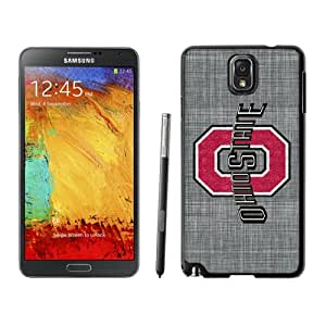 Customized Galaxy Note 3 Cases with Ncaa Big Ten Conference Football Ohio State Buckeyes 37 Protective Cell Phone Hardshell Cover Case for Galaxy Note 3 III N900 N9005 Black